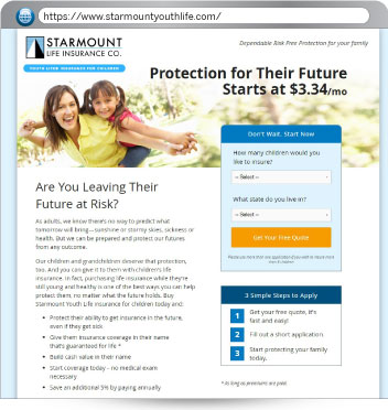 Youth Life Insurance. Features:   Free Quote Engine